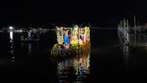 ಮಂತ್ರಾಲಯದಲ್ಲಿ ತೆಪ್ಪೋತ್ಸವ ಸಂಭ್ರಮ- ಸಾವಿರಾರು ಭಕ್ತರು ಭಾಗಿ