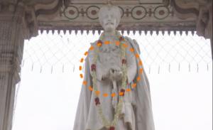 ಮೈಸೂರು ಜಯಚಾಮರಾಜ ಒಡೆಯರ್ ಪ್ರತಿಮೆಗೆ ಹಾನಿ!